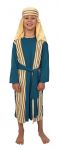 GREEN STRIPE SHEPHERD ARAB FANCY DRESS COSTUME